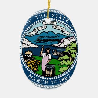 Nebraska State Seal Ceramic Ornament