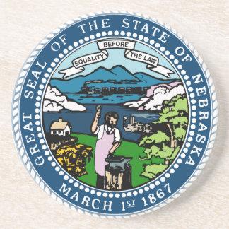 Nebraska State Seal Coaster