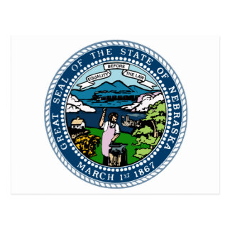 Nebraska State Seal Postcard