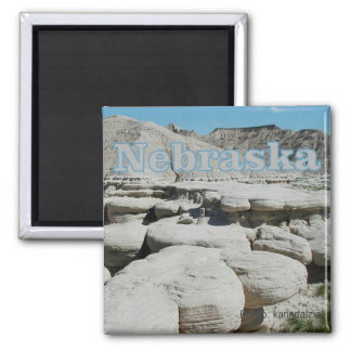 Nebraska State Travel Souvenir Fridge Magnet