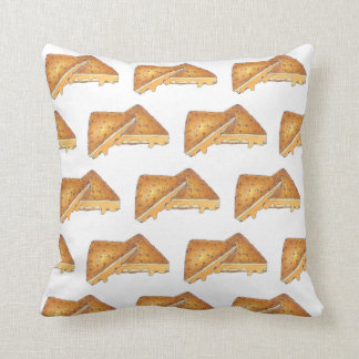 Nebraska Style Fried Cheese Frenchees Sandwich Throw Pillow