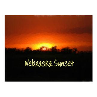 Nebraska Sunset Postcard