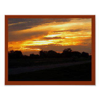 Nebraska Sunset Poster