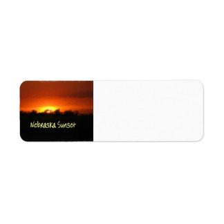 Nebraska Sunset Return Address Label
