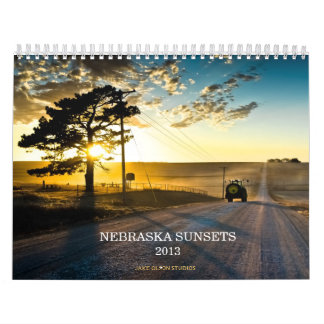 Nebraska Sunsets 2013 Wall Calendar