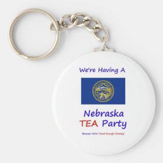 Nebraska TEA Party - We're Taxed Enough Already! Basic Round Button Keychain