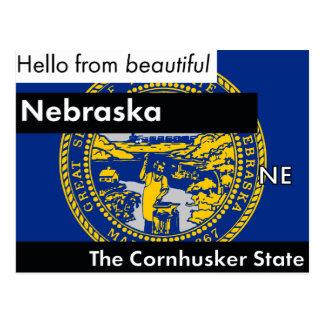 Nebraska The Cornhusker State Postcard