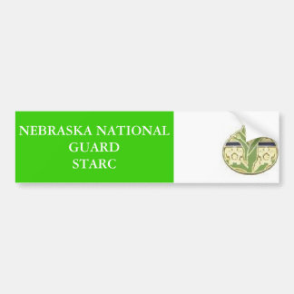 nebraska unit patch bumper sticker