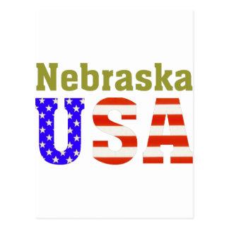 Nebraska USA! Postcard