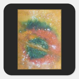 Nebula and Planets. Square Sticker