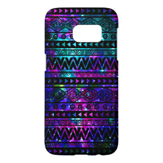Nebula Aztec Pink Teal Blue Tough Galaxy S7 Case