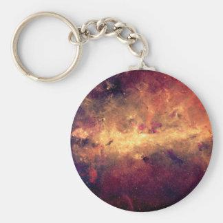 Nebula Basic Round Button Keychain