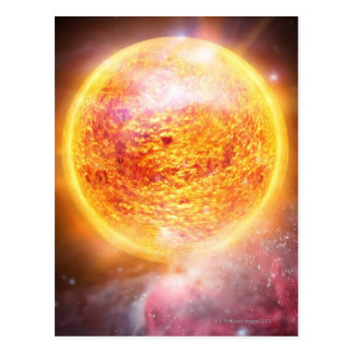 Nebula Burning Brightly Postcard