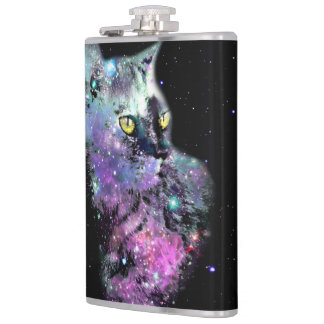 Nebula Cat Vinyl Flask