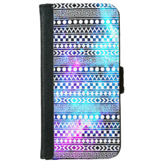 Nebula Galaxy Stars Tribal iPhone 6 Wallet Case