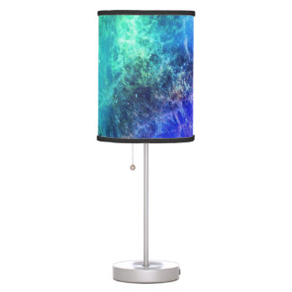 Nebula Green Blue Flames space Table Lamp