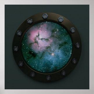 Nebula Porthole Posters