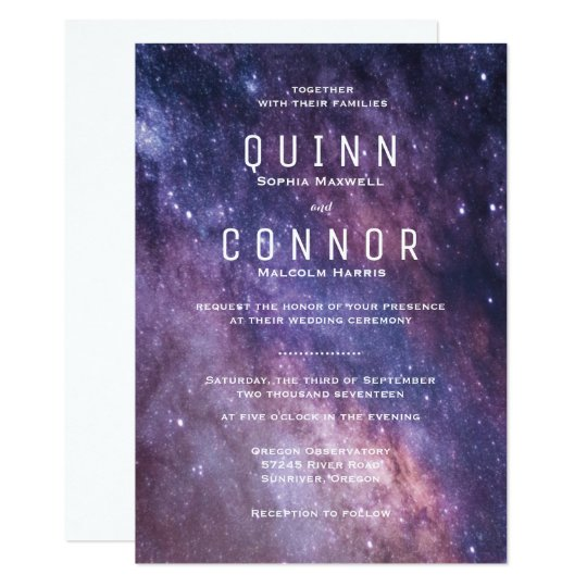 Nebula Space Cosmos Wedding Invitation