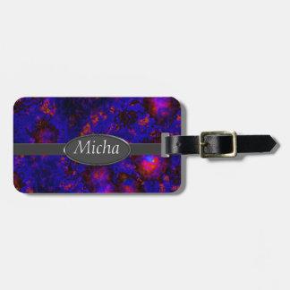 Nebula Space Explosion Monogram Luggage Tag