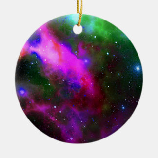 Nebula Space Photo Ceramic Ornament