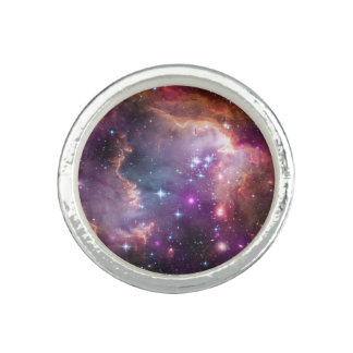 Nebula stars galaxy hipster geek cool space scienc ring