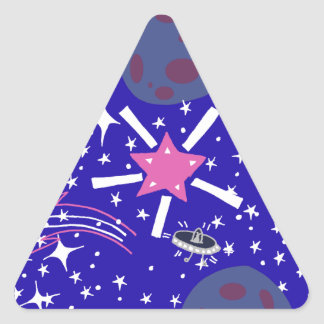 nebula triangle sticker