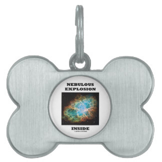 Nebulous Explosion Inside (Crab Nebula) Pet Name Tag