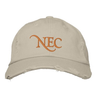 NEC Distressed Chino Embroidered Hat