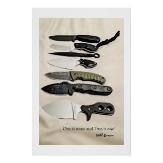Necessities, Fixed Blade Knives Poster