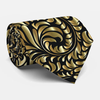 Neck Tie - Drama in Black and Gold