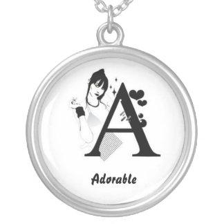 Necklace Alphabet A