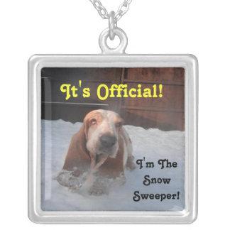 Necklace Basset Hound Snow Sweeper