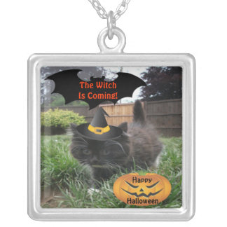 Necklace Black Cat The Witch Is Coming