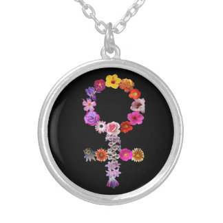 necklace female sign made photographs of flowers