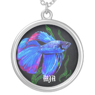 Necklace Initials Template - Betta Fish