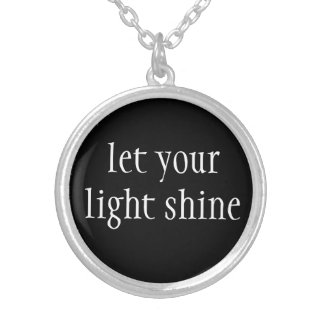 Necklace-Let Your Light Shine Silver Plated Necklace
