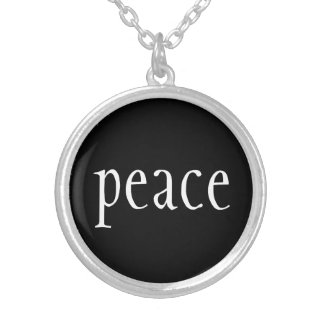 Necklace-Peace Silver Plated Necklace