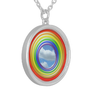 Necklace - Rainbow Rings and Sky