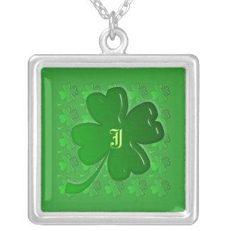 Necklace Template - Lucky Four Leaf Clover