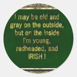 Necklace Tie Sticker Gift Inside I m Irish