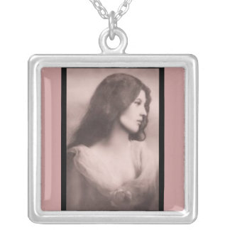 Necklace-Vintage-Solemn Woman Silver Plated Necklace