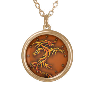 Necklace with a dragons design