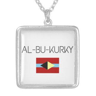 Necklace with AL-BU-KURKY symbol
