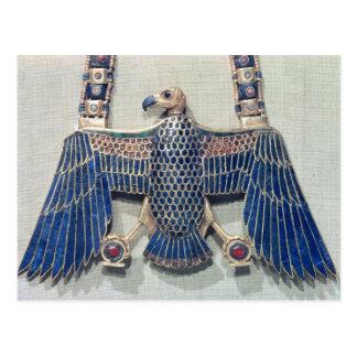 Necklace with vulture pendant postcard