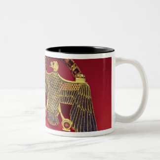 Necklace with vulture pendant Two-Tone coffee mug