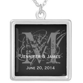 Necklaces with Monograms Names Save the Date