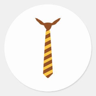 Necktie Classic Round Sticker