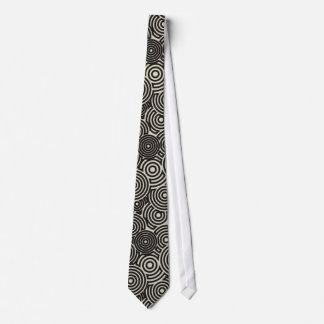 Necktie Man Hoops Negros & Old Almond White