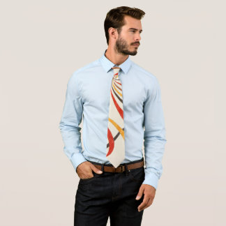 necktie with abstract drawing to wood colors