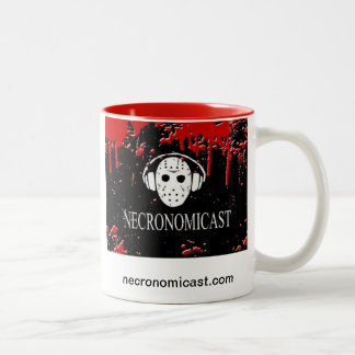 Necromug - White/Red Two-Tone Coffee Mug